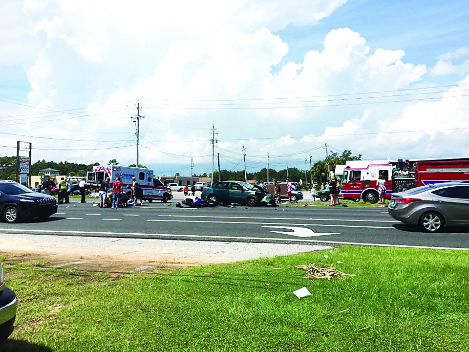 Four injured in pileup - South Santa Rosa News